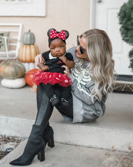 Halloween! It's one of my favorite times of year that I count down too! Just love this little Minnie! And also how it's soft and comfy for little babies too! This Minnie Mouse baby costume outfit also comes in a Cinderella and rapunzel option too! All are adorable! And I linked up my favorite Halloween sweaters that I wear all month long! I pair them with black leggings and black sock booties http://liketk.it/2VCFQ #liketkit @liketoknow.it #LTKkids #LTKfamily #LTKbaby @liketoknow.it.family