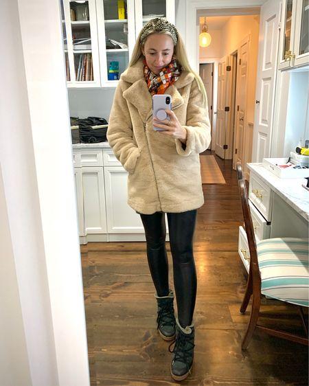 Leather + Fur, but make it Faux ✌🏻 By far my favorite leggings, coat, tunic & boot combo • http://liketk.it/2ZOle #liketkit @liketoknow.it #LTKstyletip #LTKshoecrush #LTKunder100