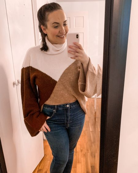 I'm LOVING my new jeans & sweater from JustFab !! I'm seriously SO impressed with the quality. This was part of my first clothing purchase from them and the haul that I shared of $480 worth of items that I paid $28 for! They have an awesome friend referral program, VIP rewards, and amazing sales! You NEED to go sign up! 😍😍😍 #LTKunder50 #LTKstyletip #LTKsalealert   Use my referral link and go grab some goodies!  https://www.justfab.com/invite/164752147   http://liketk.it/34vhG #liketkit @liketoknow.it Shop my daily looks by following me on the LIKEtoKNOW.it shopping app