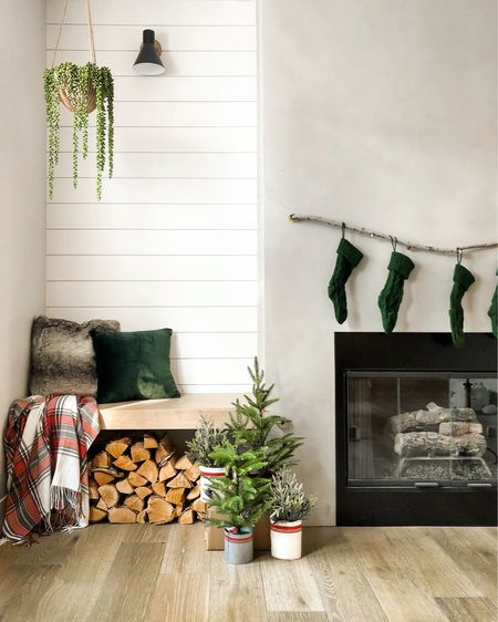 I title this...how you decorate when you don't have a mantel or shelves🤷🏼♀️🙌🏻. Operation: winter cabin look in a Vegas house is in full effect. Even though the saw in my stories looked hazardous, I promise no one for injured😂. Do you have a mantel to decorate? . Christmas decor from @walmart for the win! #sponsored #WalmartHome #startwithaspark #hostgamestrong Shop your screenshot of this pic with the LIKEtoKNOW.it shopping app   http://liketk.it/2Hqb7 #liketkit @liketoknow.it
