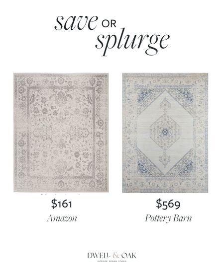 Save or splurge on a vintage inspired Turkish rug? The Safavieh rug on Amazon comes in many hues for $161, while the Pottery Barn rug is $569 #potterybarn #turkishrug #safavieh   #LTKstyletip #LTKsalealert #LTKhome
