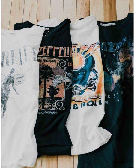 Vintage band tshirts! http://liketk.it/3h69b #liketkit @liketoknow.it #LTKDay #LTKstyletip #LTKunder100