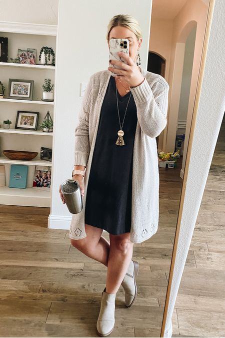 These booties are from Walmart and I love them! So cute and go with everything! Perfect for fall! And this cardigan is from Amazon!   #LTKSeasonal #LTKstyletip #LTKunder50