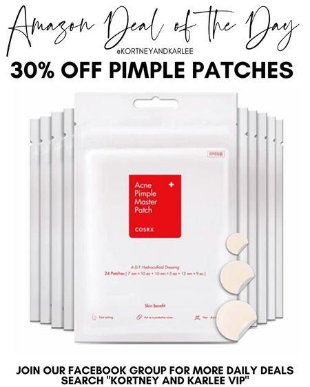 Amazon Deal of the Day!! 30% off pimple patches!  Amazon daily deal | amazon deal | amazon beauty | amazon finds | amazon favorites | amazon lightening deal | Kortney and Karlee | #kortneyandkarlee #LTKunder50 #LTKunder100 #LTKsalealert #LTKstyletip #LTKSeasonal #LTKhome @liketoknow.it #liketkit