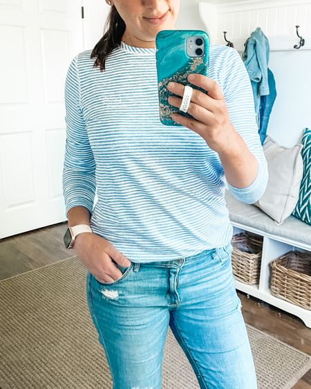 Love this SPF 50 swim shirt plus I also pair it with jeans or shorts when I'm not at the beach or pool. Great chic yet relaxed summer look.     #LTKSeasonal #LTKunder100 #LTKswim