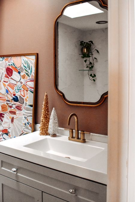 A little bathroom renovation sneak peak .. the last you'll see if it until the full reveal coming soon! What do you think so far?   Items linked here http://liketk.it/32csw #liketkit @liketoknow.it #LTKhome @liketoknow.it.home