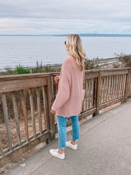 Linking my weekend outfit here! Cardigan runs oversized, wearing a M/L    #LTKfit #LTKunder50 #LTKunder100