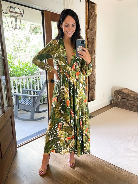"""Lightweight and flowy maxi dress. definitely gives j.lo vibes. So comfy and figure flattering :) Wearing a small and I'm 5'8""""   #LTKstyletip #LTKtravel"""