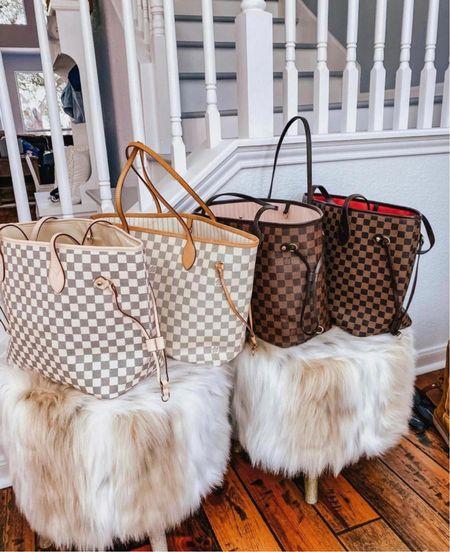 Daisy rose Walmart LV checkered inspired tote bags! Under $50!   #LTKGiftGuide #LTKsalealert #LTKitbag