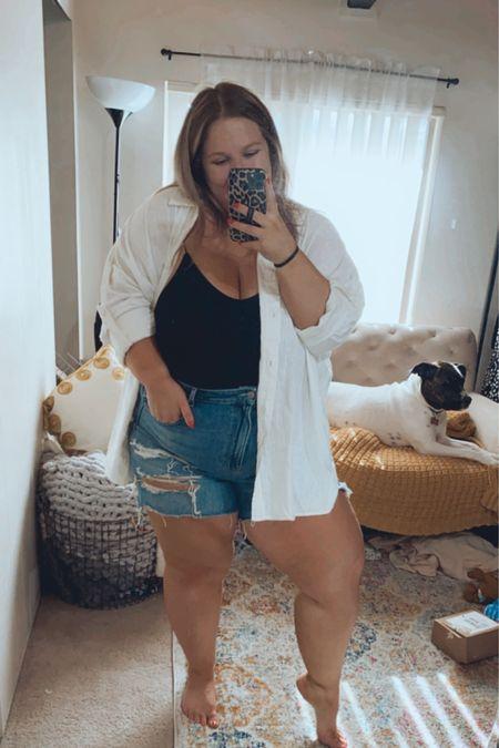 Love these Tom girl shorts & oversized shirt! http://liketk.it/3hMdM #liketkit @liketoknow.it #LTKcurves #LTKsalealert #LTKstyletip