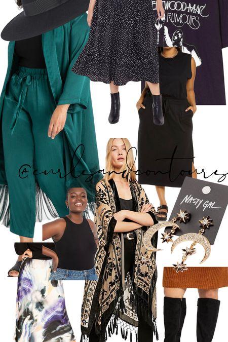 Plus Size boho fall witchy outfit ideas   #LTKstyletip #LTKSeasonal #LTKcurves