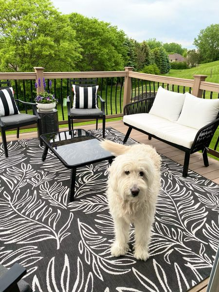 Our deck is looking rather cozy these days! Patio furniture can get expensive but I've tagged our adorable picks!   #LTKhome #LTKunder100 #LTKsalealert