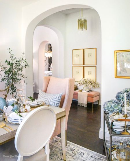 Dining room decor, blush decor, home decor, fall decor, area rug, olive tree   #LTKhome