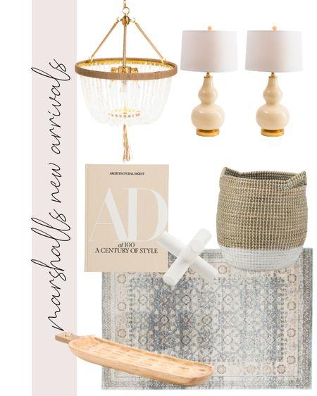 Marshall's, home decor, coastal, beach house, rug, coffee table book, lighting, beaded chandelier, lamps, basket, Serena & lily, looks for less, table lamp    #LTKunder100 #LTKunder50 #LTKhome