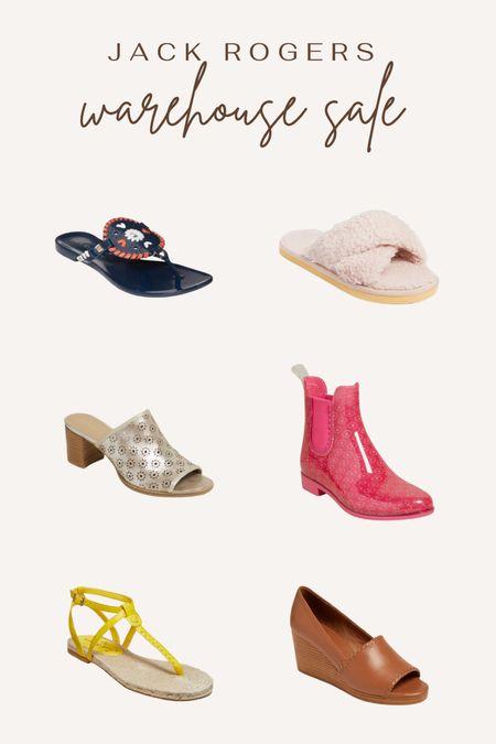 Jack Rogers warehouse sale. Summer sandals. Slippers. Rain boots. Sandals. Wedges. Shoe sale.   #LTKsalealert #LTKshoecrush #LTKunder50