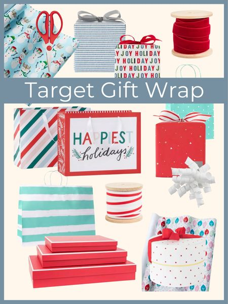 Gift wrap essentials from Target - everything you need to wrap your gifts with the cutest wrapping paper , gift bags and boxes and bows!     Target style , gift wrap, wrapping paper , gift box , holiday style , target home , target Christmas , gift bag #ltkseasonal  #LTKHoliday #LTKGiftGuide #LTKunder50