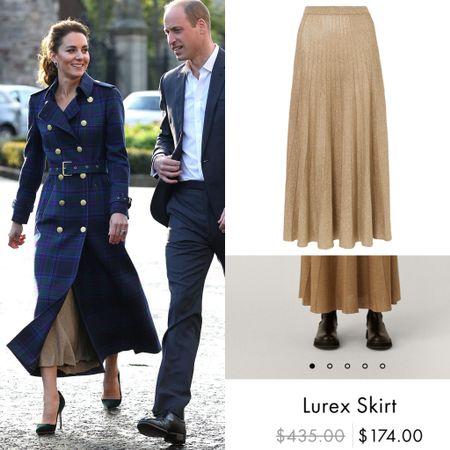 Major sale on Kate's Joseph skirt #sale #pleated #longskirt #metallic #gold #midi #holiday   #LTKeurope #LTKstyletip