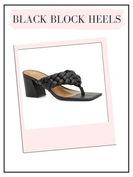 Rounding up some super cute black block heeled sandals!   #LTKshoecrush