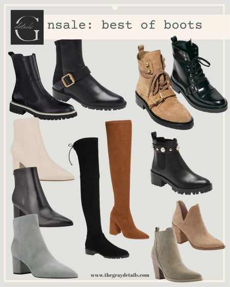 Best of boots from Nordstrom anniversary sale / over the knee boots / Steve Madden / combat boots / Marc fisher boots   #LTKstyletip #LTKsalealert #LTKshoecrush