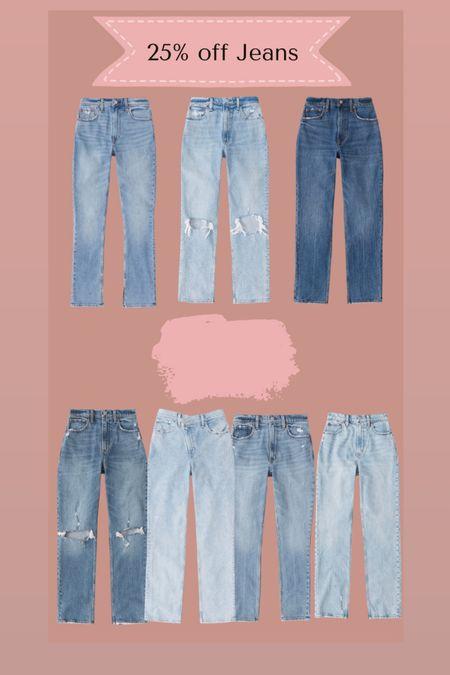 Abercrombie jeans 25% off   #LTKsalealert #LTKSale #LTKSeasonal