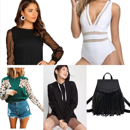 January's Most Popular black top from amazon One piece swimsuit from amazon Leopard print sweater Black oversized hoodie Black fringe backpack purse Midi wrap skirt Celine dupe sunglasses Black leather backpack Nude heels  Gold hoops http://liketk.it/2JUEU #liketkit @liketoknow.it #LTKshoecrush #LTKswim #LTKitbag   Amazon finds, amazon fashion, amazon must haves, shirts from amazon, fashion blogger amazon finds, amazon dupes, amazon top, spring outfit, spring style, tops for work, business casual, heels for spring, sunglasses from amazon, diaper bag, amazon swim