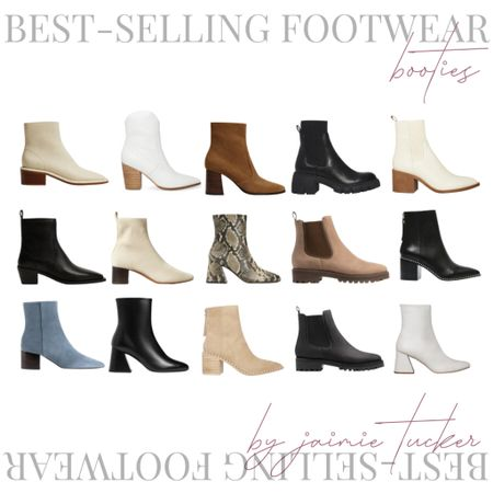 Best selling ankle boots and booties, check em' out! | #fallfootwear #fallboots #winterboots #ankleboots #booties #bestsellers #popularboots #JaimieTucker  #LTKshoecrush #LTKSeasonal