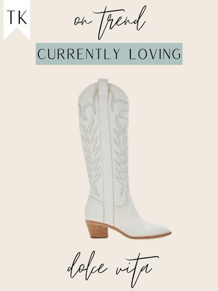 White cowgirl boots / white cowboy boots / western boots   #LTKshoecrush