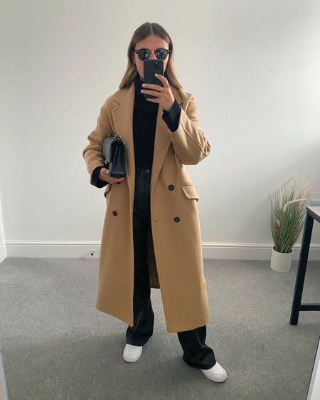 10 Pinterest inspired AW outfits 👉🏼  I'm always on the look out for outfit inspiration and @pinterestuk is one of my go-to places to search for outfit ideas.  Here are 10 outfits I've recreated using clothes I already own in my wardrobe.  1. Camel coat and leather trousers   #LTKeurope #LTKunder50 #LTKstyletip