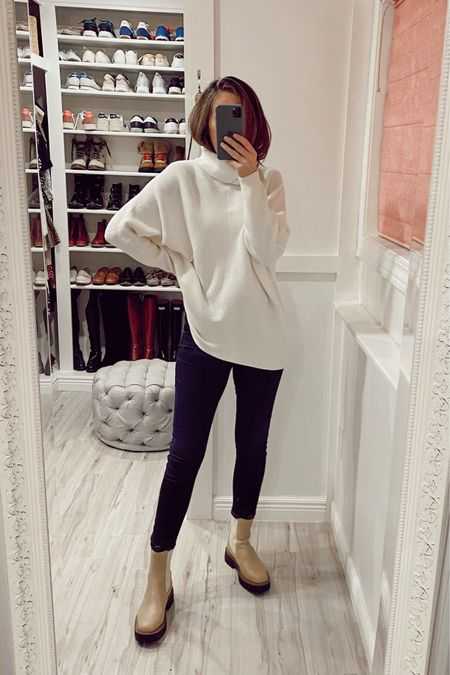 The perfect fall, and winter, boots. Also this sweater is so adorable yet it's amazing. I have it in black too.  #ltkfall #fallboots #nordstrom   #LTKshoecrush