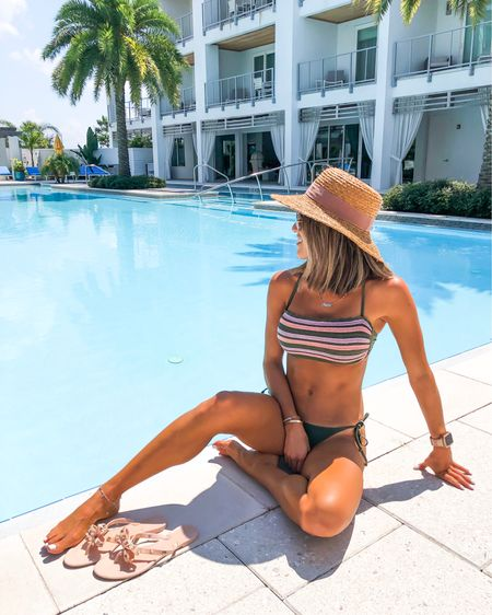 Pool days are the best days (and beach) wearing size m in the crochet top and size xs in the olive tie bottoms. Both under $20 http://liketk.it/2EPdI #liketkit @liketoknow.it #LTKunder50 #LTKunder100 #LTKstyletip #LTKswim #LTKtravel