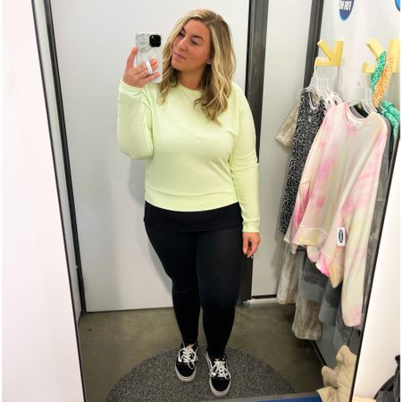 Living for neons 🙌🏼 Love this twist-back French terry top from Old Navy in this neon green color. Also comes in a cute tie-dye print and a few other colors. I'm wearing a large here. Would recommend sizing up for a looser fit as it does run a little small. On sale for $20 w/ code SWEET at checkout. Also obsessed with my Aerie crackle leggings and they're on sale for $27! You can also take 10% off your Loopy phone case w/ code ashleymorganstyle at loopycases.com. @liketoknow.it #liketkit #LTKcurves #LTKsalealert #LTKunder50 #oldnavy #womensstyle #springstyle #crackleleggings #loopy #loopycase #ltkspring #curvystyle #midsizestyle #midsizeblogger http://liketk.it/3ddrM