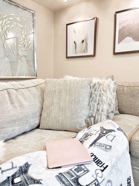 White ivory living room and decorative throw pillows. #LTKhome #LTKfamily #liketkit http://liketk.it/3eCve @liketoknow.it