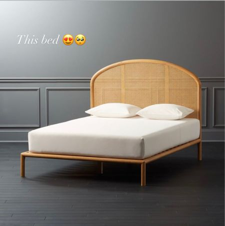 Cane queen bed frame / rattan / bohemian / woven    #LTKstyletip #LTKfamily #LTKhome