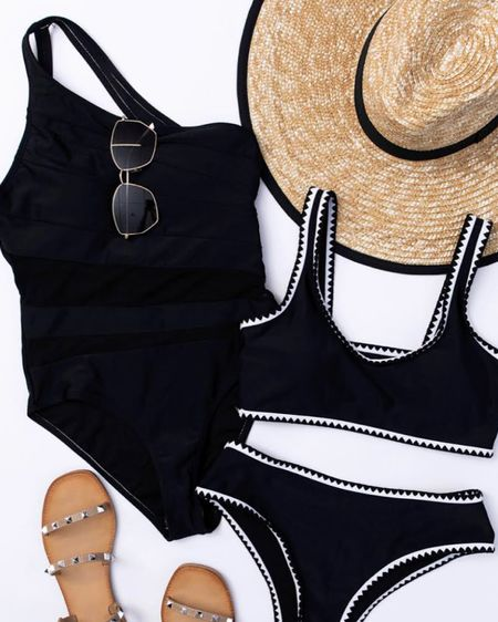 Shop Pink Lily's new swimwear arrivals! Checkout the Beyond the Sea Mesh Swimsuit and the Boardwalk Bliss Black Bikini for trendy looks! http://liketk.it/38cLo #liketkit @liketoknow.it #LTKswim #LTKstyletip #LTKSeasonal Follow me on the LIKEtoKNOW.it shopping app to get the product details for this look and others