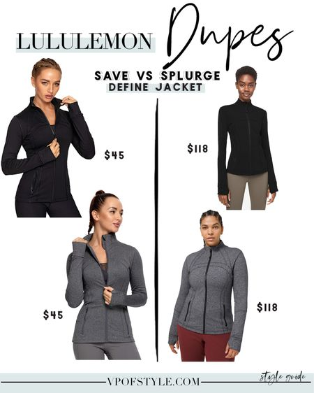 Amazon finds #amazonfinds Lululemon define jacket dupe #lululemondupes #luludupes #lululemonlookforless #workoutjacket http://liketk.it/34UZV #liketkit @liketoknow.it #LTKunder50 #LTKfit #LTKNewYear