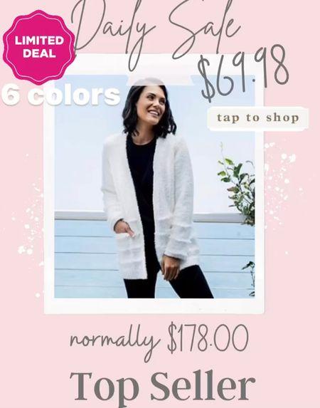 Great Deal…. Barefoot dreams sweater 🌸 $69.98 Normally $178 .   #LTKsalealert #LTKHoliday #LTKGiftGuide