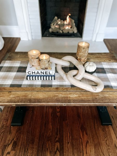 Fall home decor coffee table dining room decorations styled styling style velvet pumpkins neutral greenery stems natural modern minimal Follow my shop on the @shop.LTK app to shop this post and get my exclusive app-only content!   #LTKHoliday #LTKSeasonal #LTKhome