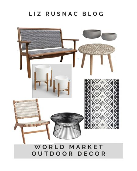Outdoor decor and furniture finds from World Market for your patio or front porch. #summerdecor #backyardfurniture #frontporchdecor http://liketk.it/3drf8 #liketkit @liketoknow.it #LTKhome #LTKunder100