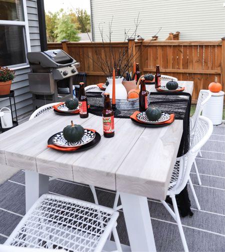 Halloween table scape, last minute Halloween decor, fall patio, fall decor, Halloween party   #LTKhome #LTKfamily #LTKSeasonal