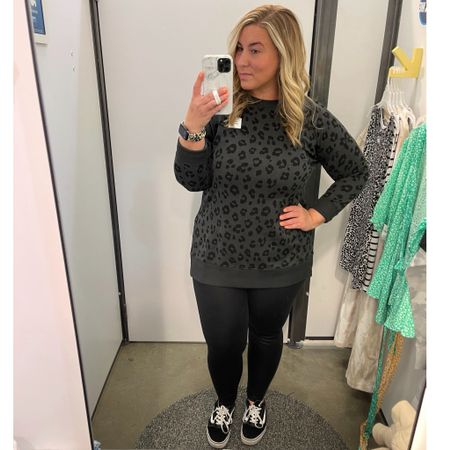 I clearly have a thing for leopard print 🐆 Old Navy has some super cute lightweight tunics on sale right now - this one is on sale for $28 w/ code SWEET. This one fits oversized - wearing a medium for reference (usually a large) and it fits comfortably so would suggest sizing down a size. Also my Aerie crackle leggings are on sale for $27! You can also take 10% off your Loopy phone case w/ code ashleymorganstyle at loopycases.com. @liketoknow.it #liketkit #LTKcurves #LTKsalealert #LTKunder50 #oldnavy #womensstyle #springstyle #crackleleggings #loopy #loopycase #ltkspring #curvystyle #midsizestyle #leopardprint #applewatchband #midsizeblogger http://liketk.it/3ddsY