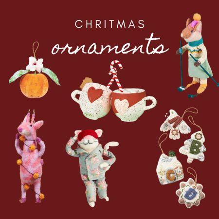 Cute Christmas ornaments, felt Christmas felt ornaments, monogram and initial ornaments   #LTKHoliday #LTKSeasonal #LTKhome