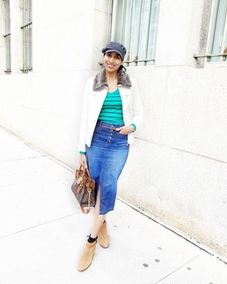 Denim skirts are so perfect for spring and summer. Style them with booties, heels, runners, or sandals!! .  Screenshot or 'like' this pic to shop the product details from the LIKEtoKNOW.it app, available now from the App Store! .  @liketoknow.it #liketkit #LTKstyletip #LTKunder100 #denimskirt #denimoutfit #casualoutfit #weekendstyle #WeekendLook #DateNight #GirlsNightOut #TravelOutfit #japssparkle #makeitsparkle http://liketk.it/2APIe