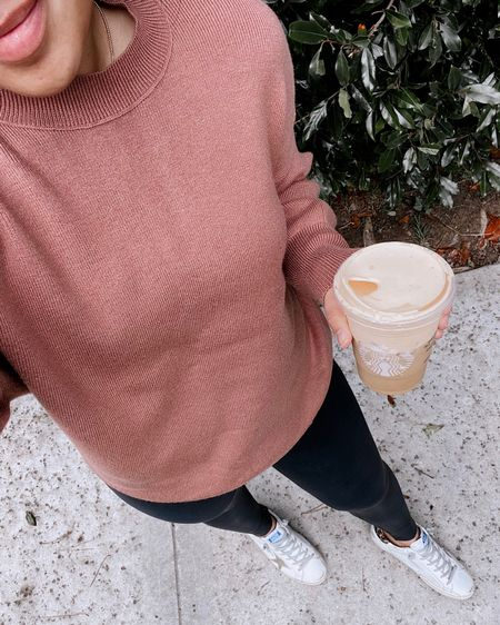 It felt like fall for a bit today so had to bust out the softest sweaters + go-to leggings!   #LTKSeasonal #LTKstyletip #LTKunder100