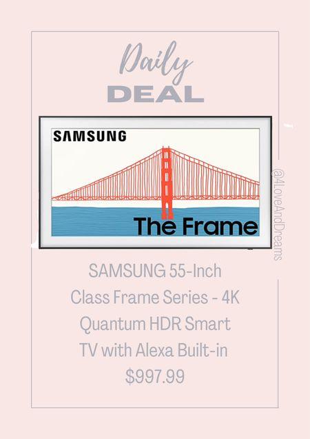 Sam song 55 inch frame smart TV on SALE   #LTKGiftGuide #LTKhome #LTKsalealert
