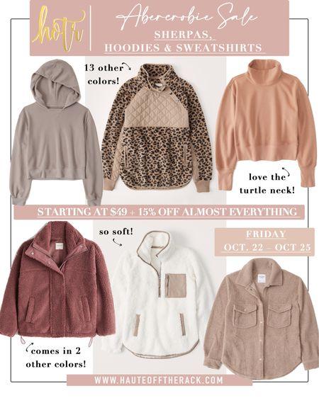 Sherpas, hoodies & sweatshirts on major sale at Abercrombie this weekend! You don't wanna miss! #sherpa #leopardprint #jacket #shaket #sherpajacket #hoodie #sweatshirt #loungewear #falloutfits #cozyoutfit   #LTKSeasonal #LTKGiftGuide #LTKsalealert