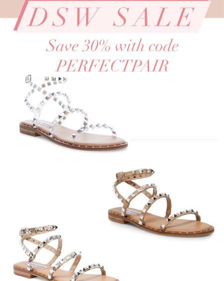 Steve Madden travel sandals on sale! Rock stud sandals #liketkit http://liketk.it/37lNG @liketoknow.it #LTKsalealert #LTKshoecrush #LTKunder50