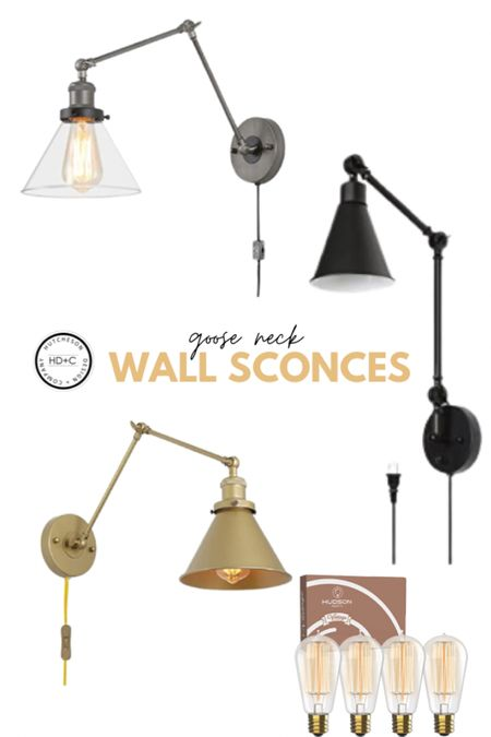 Affordable goose neck wall sconces & Edison bulbs to pair with them! ✨ • Sconces are great above nightstands, in hallways, bathrooms & above artwork! •  http://liketk.it/3eHZ9 #liketkit @liketoknow.it @liketoknow.it.home #LTKhome #LTKunder100 #LTKstyletip   You can instantly shop all of my looks by following me on the LIKEtoKNOW.it shopping app