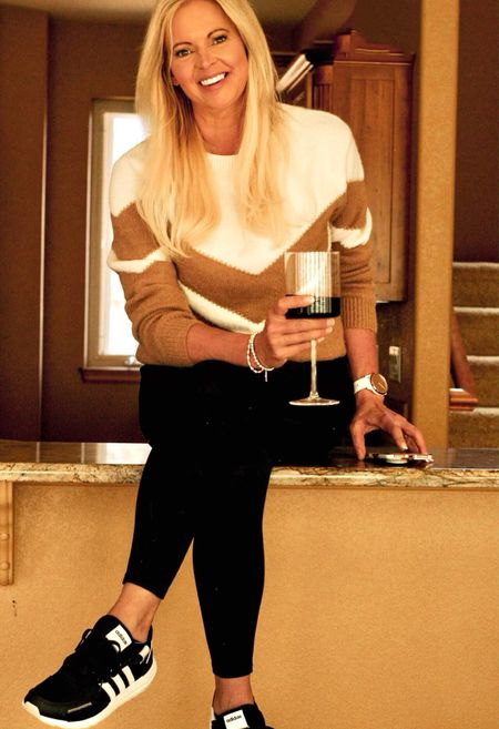 Casual fall outfit. Sweater from Amazon. TTS  #wineglasses #amzonfind  #LTKhome #LTKunder50 #LTKstyletip