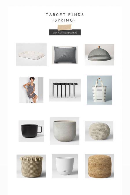 Target Spring Finds! Home Decor, Patio, Spring Bedding & More!   #LTKunder50 #LTKhome #LTKSeasonal