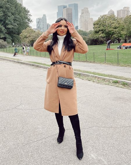 Wearing some of my favorite fall basics today! Sweater dress and boots are #amazon and my coat is Nordstrom linking everything here   #LTKHoliday #LTKGiftGuide #LTKSeasonal